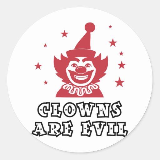 Clowns Are Evil Sticker