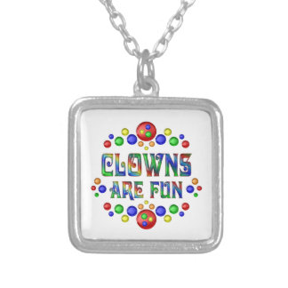 Clowns are Fun Silver Plated Necklace