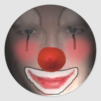 Clowns Are Scary Round Sticker