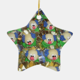 Clowns Ceramic Ornament