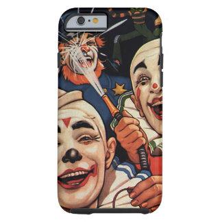 Clowns de cirque vintages, humoristique drôle coque iPhone 6 tough