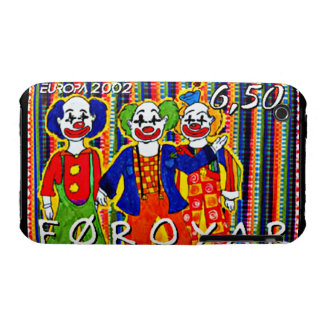 Clowns Faroe Islands Stamp Blackberry Curve Case-M iPhone 3 Cases