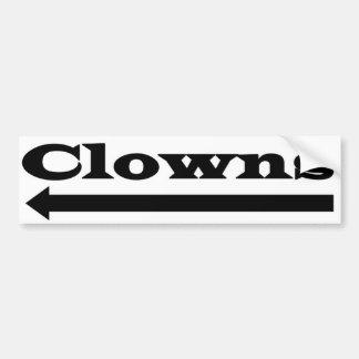 Clowns gauches autocollant de voiture