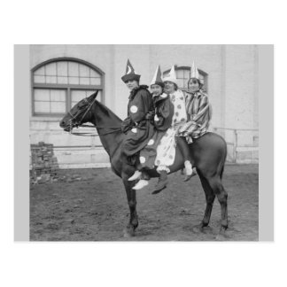Clowns on a Horse 1915 Postcard