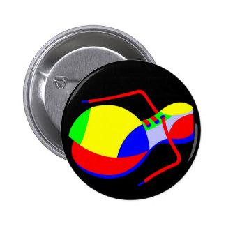 Clown's Shoe 2 Inch Round Button