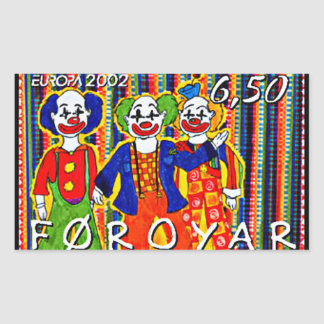 Clowns Stamp Faroe Islands Denmark