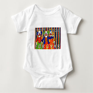 Clowns Stamp Faroe Islands Denmark Baby Bodysuit