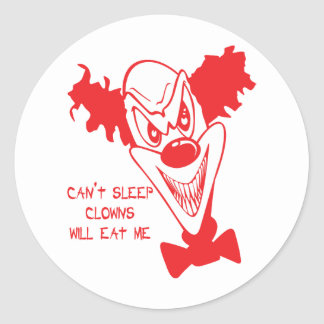 Clowns Will Eat Me Stickers/Envelope Seals