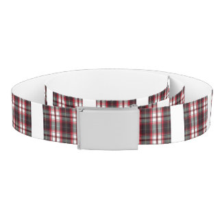 CLS Positively Plaid Canvas Stretch Belt