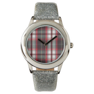 CLS Positively Plaid Glitter Banded Watch