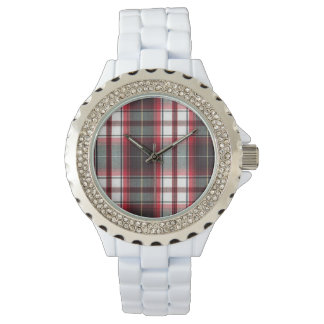 CLS Positively Plaid Rhinestone Fashion Watch