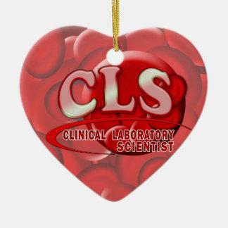 CLS RBC LOGO CLINICAL LAB SCIENTIST BLOOD CELLS CERAMIC ORNAMENT