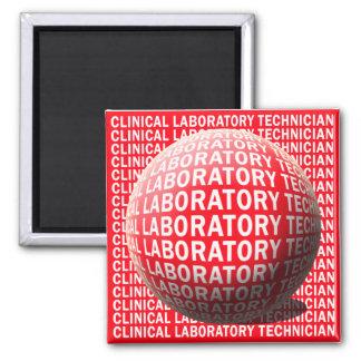 CLT SPHERE BLOOD DROP CLINICAL LABORATORY TECH MAGNET