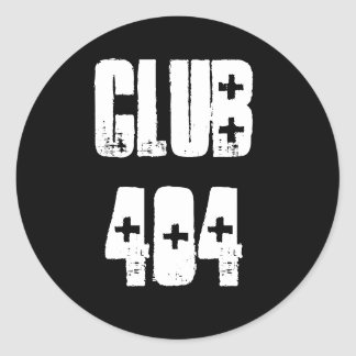 'Club 404' Sticker with Shotgun Ambulance Font
