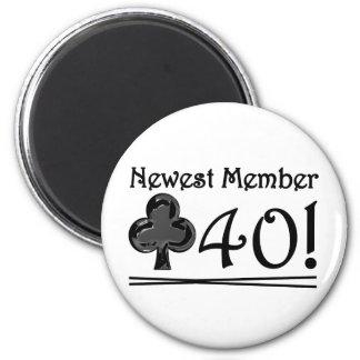 Club 40 2 inch round magnet