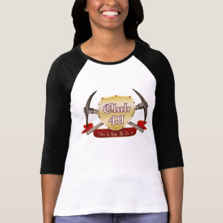 Club 49 Ladies 3/4 Sleeve Raglan (Fitted) Tshirt