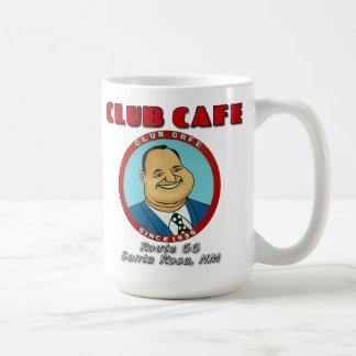 Club Cafe Fat Man Mug with Lettering
