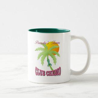 Club Chemo - Teal Two-Tone Coffee Mug