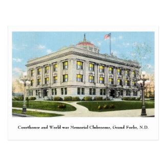 Club commémoratif de guerre mondiale de tribunal,  carte postale
