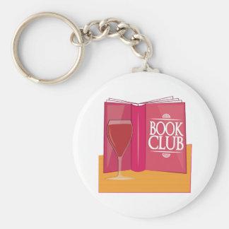 Club de lecture porte-clé rond
