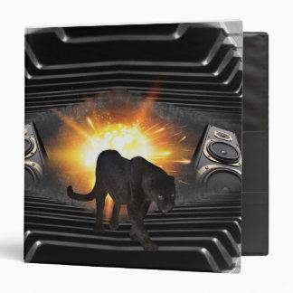 club disco DJ keyboard Black panther Deejay 3 Ring Binder