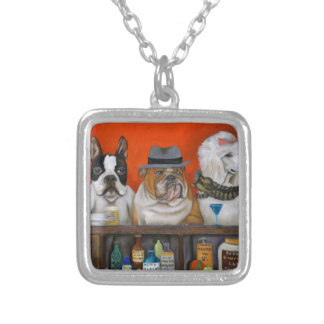 Club K9 Silver Plated Necklace