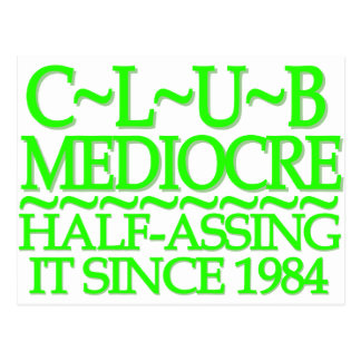 Club Mediocre Lime Post Cards