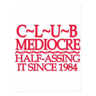 Club Mediocre Red Postcards