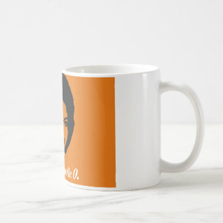Club Michelle O. Ceramic Coffee Mug, Orange Coffee Mug