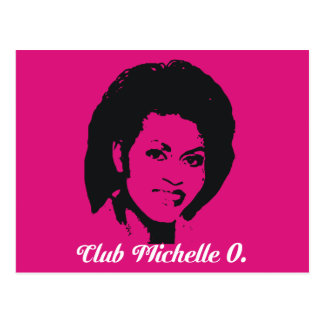 Club Michelle O Postcards, Hot Pink Postcard