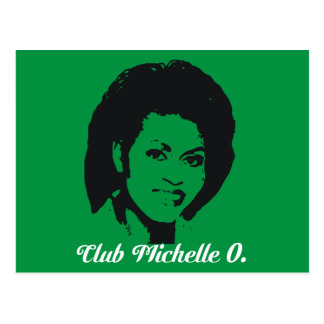 Club Michelle O Postcards, Kelly Green Postcard