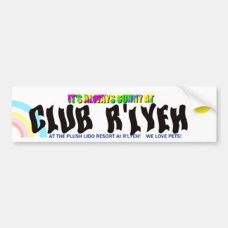 Club R'lyeh Resorts Bumper Sticke Bumper Stickers