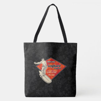 Club Surfing Diamond Hawaiian Hibiscus Beach Bag