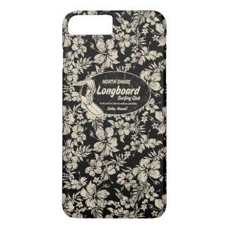 Club Surfing Longboard Logo and Hibiscus Hawaiian iPhone 8 Plus/7 Plus Case