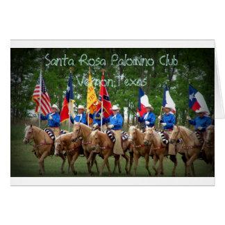 Club Vernon, le Texas de palomino de Santa Rosa Carte De Vœux