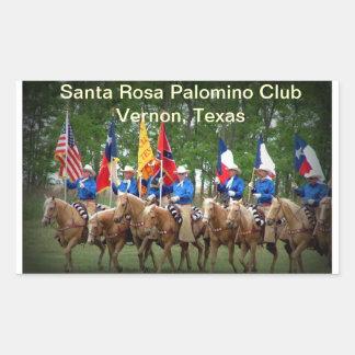 Club Vernon, le Texas de palomino de Santa Rosa Sticker Rectangulaire