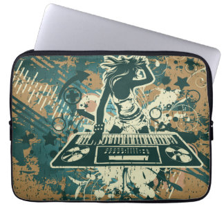 Clubbing Music Theme Laptop Computer Sleeves