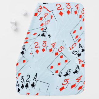 Clubs And Diamonds Straight Flush, Baby Blanket