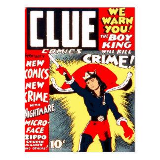Clue Boy Postcard