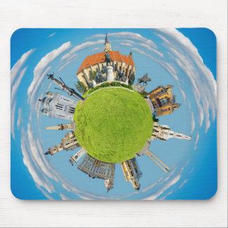 cluj napoca city romania little planet landmark ar mouse pad