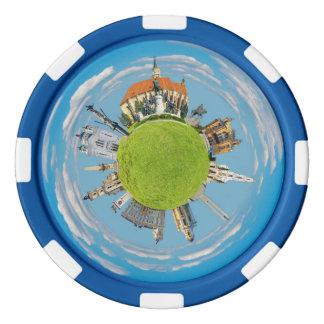 cluj napoca city romania little planet landmark ar set of poker chips