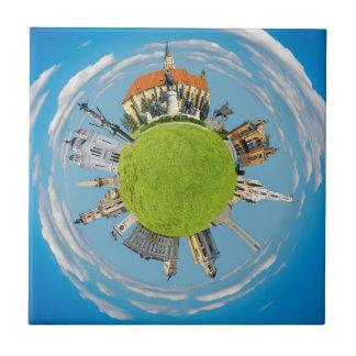 cluj napoca city romania little planet landmark ar tile
