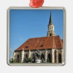 Cluj Napoca, Romania Silver-Colored Square Ornament