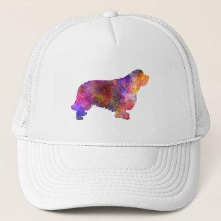 Clumber Spaniel 01 in watercolor-2 Trucker Hat