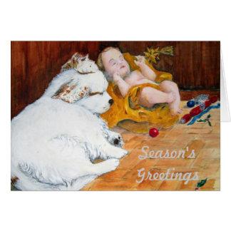 Clumber Spaniel Christmas Card