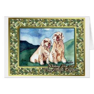 Clumber Spaniel Dog Blank Christmas Card