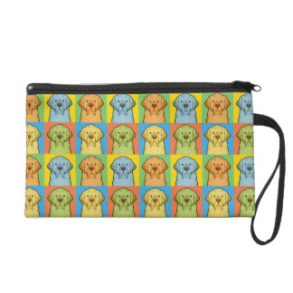 Clumber Spaniel Dog Cartoon Pop-Art Wristlet