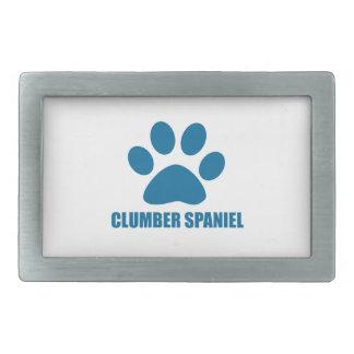 CLUMBER SPANIEL DOG DESIGNS BELT BUCKLES