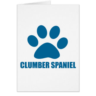 CLUMBER SPANIEL DOG DESIGNS CARD