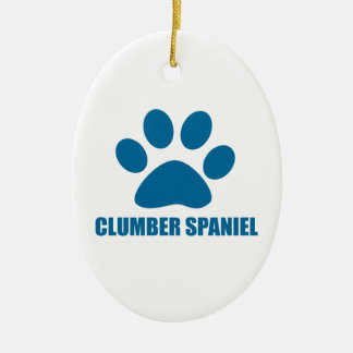 CLUMBER SPANIEL DOG DESIGNS CERAMIC ORNAMENT